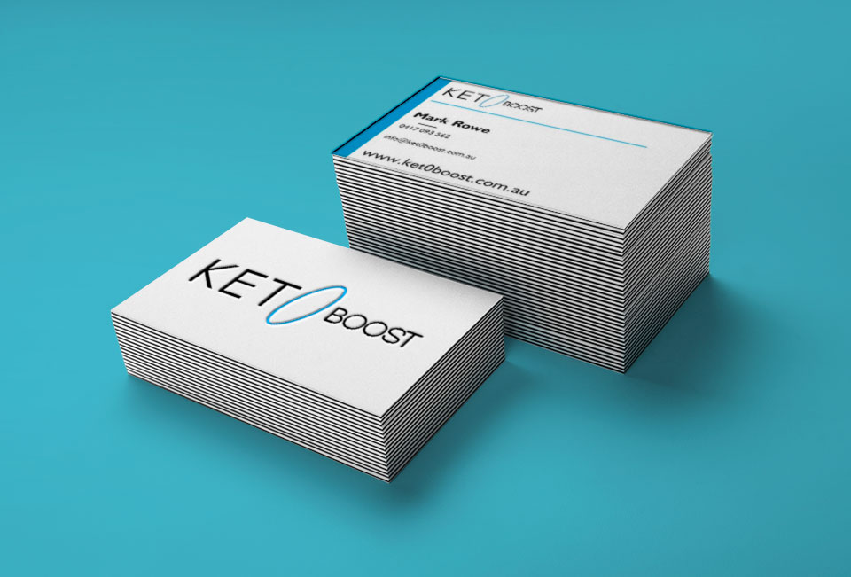 Ket0boost business cards designed by Farrelly Web Design