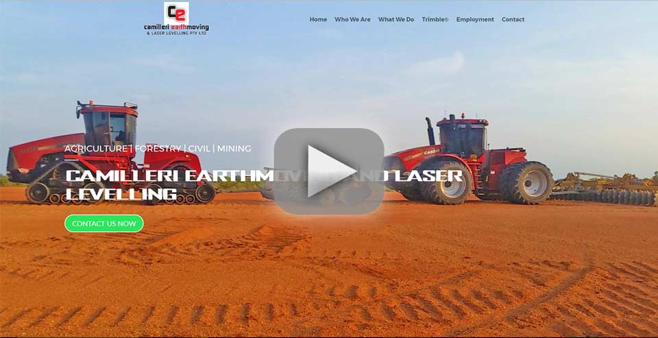 Camilleri Earthmoving and Laser Levelling website Video Tour